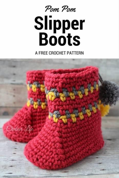 free-baby-boot-slipper-crochet-pattern