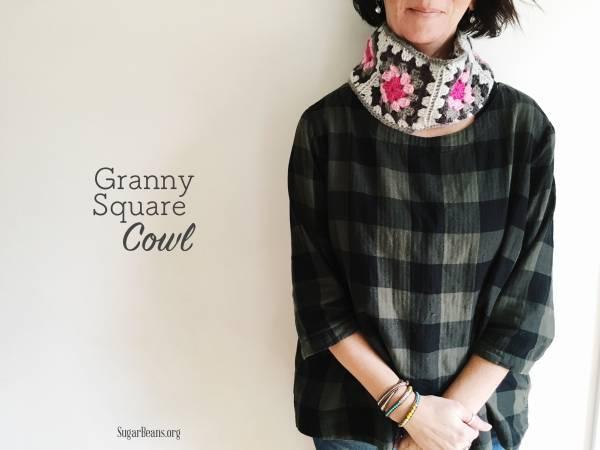 Crochet+Granny+Square+Cowl.+SugarBeans.org
