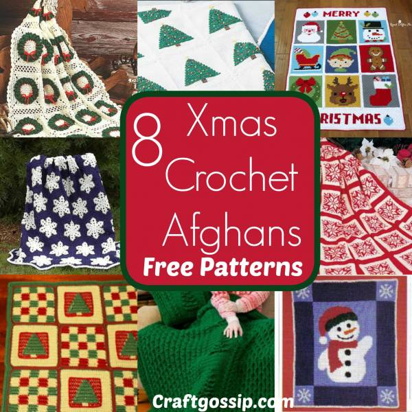 8 Free Christmas Afghan Blanket Patterns Crochet