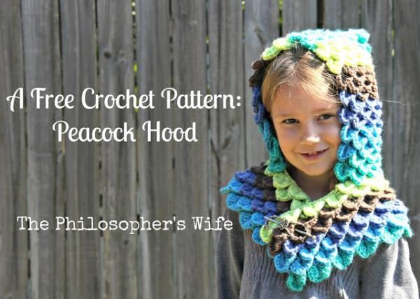 Free Pattern Peacock Hoodie Crochet