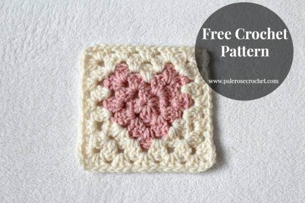 Crochet Heart Square