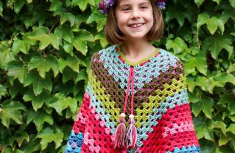 Caron Cakes Rainbow Poncho Pattern