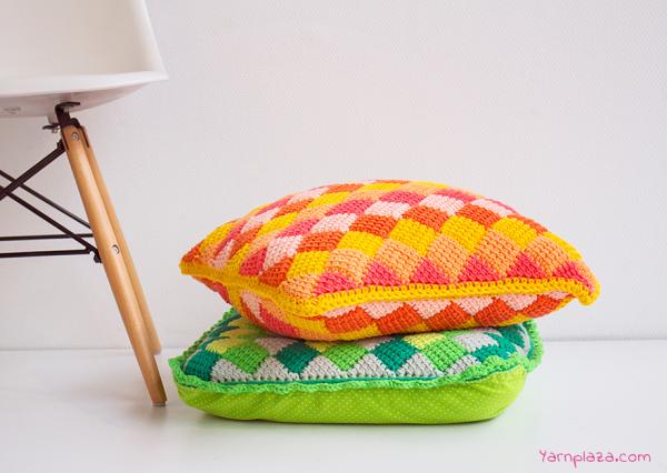 Tunisian Crochet Cushion Pattern