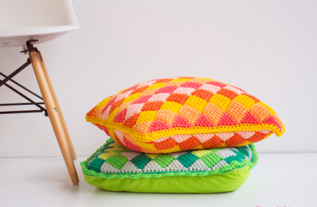 Tunisian Crochet Cushion Pattern