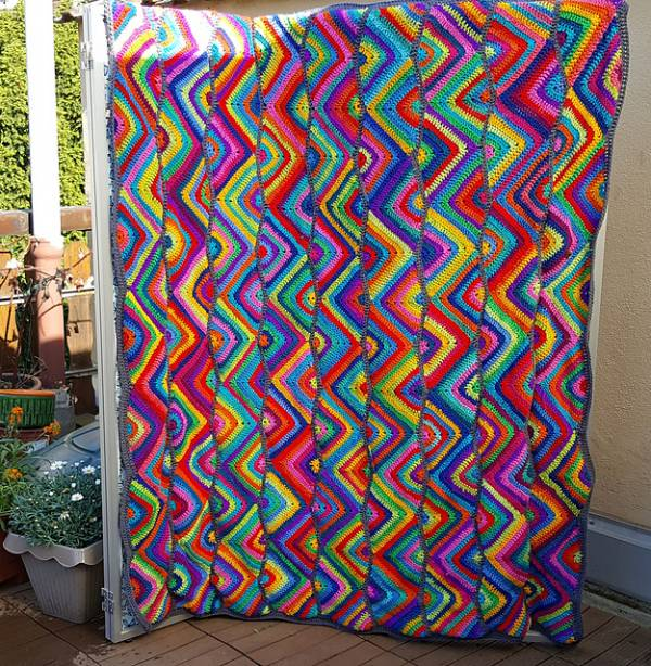 Zig Zag Crochet Blanket Pattern