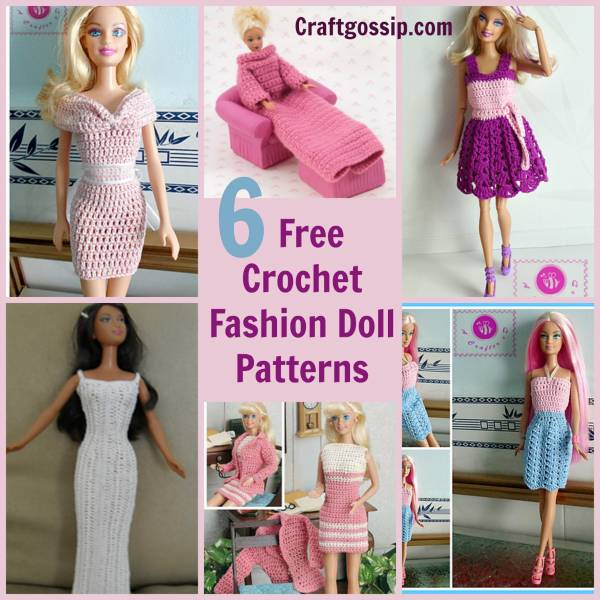 6 Barbie Fashion Doll Patterns – Crochet