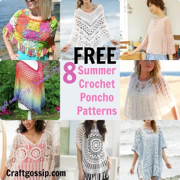 8 Summer Crochet Poncho Patterns – Crochet