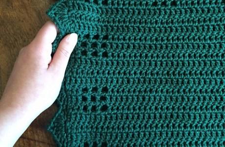 Crochet Muskoka Cabin Baby Blanket