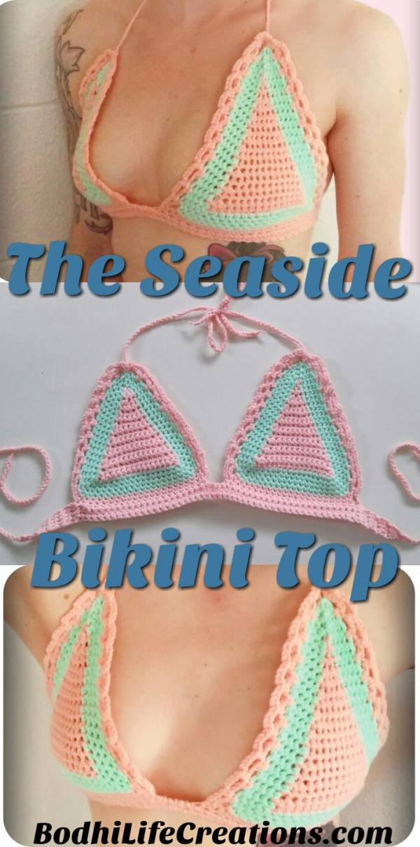 Crochet Pattern – Seaside Bikini Top – Crochet