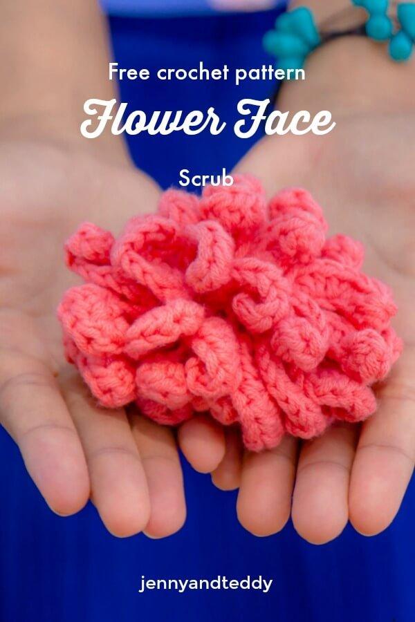 Crochet Flower Face Scrubbie Crochet