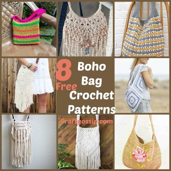 8 Boho Festival Bags To Crochet Crochet