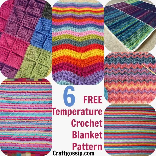 6 Temperature Blanket Patterns – Crochet