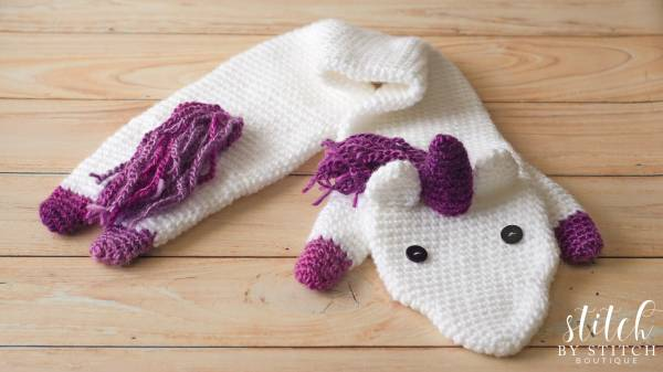 Knitting Pattern For Unicorn Hooded Scarf : Unicorn Fever Scarf Pattern   Crochet