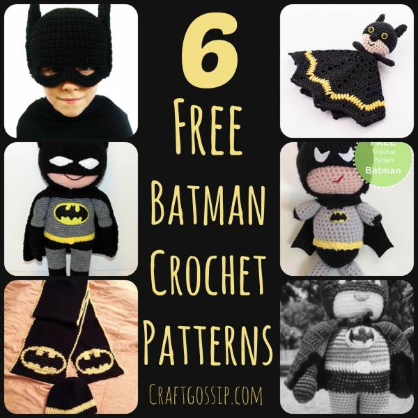 Free Batman Amigurumi Pattern (Crochet) - Daisy and Storm | 600x600