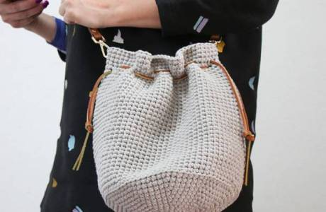 Crochet Tote Shoulder Bag