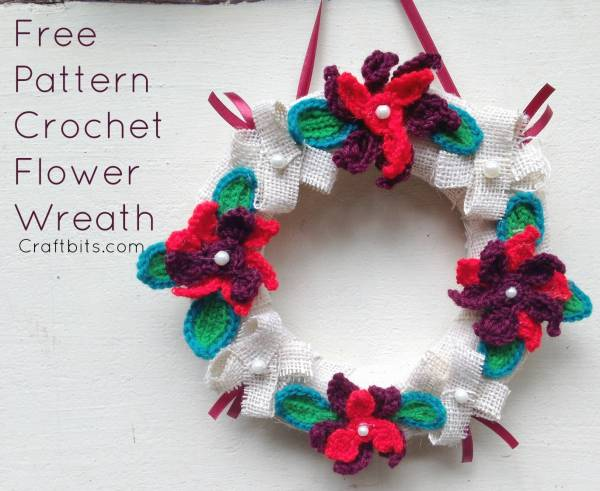 Crochet Flower Christmas Wreath Crochet