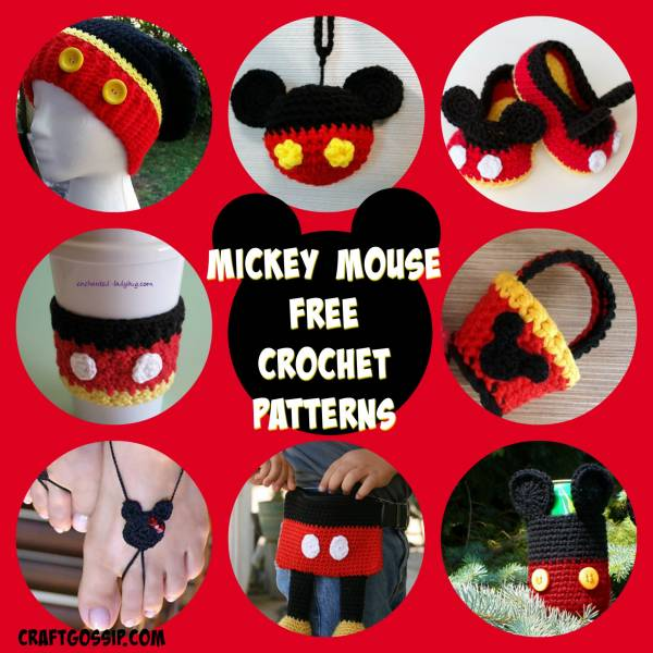 Mickey Mouse Crochet Patterns Crochet