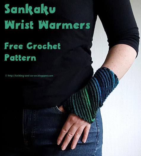 Sankaku Wrist Warmers Crochet Pattern