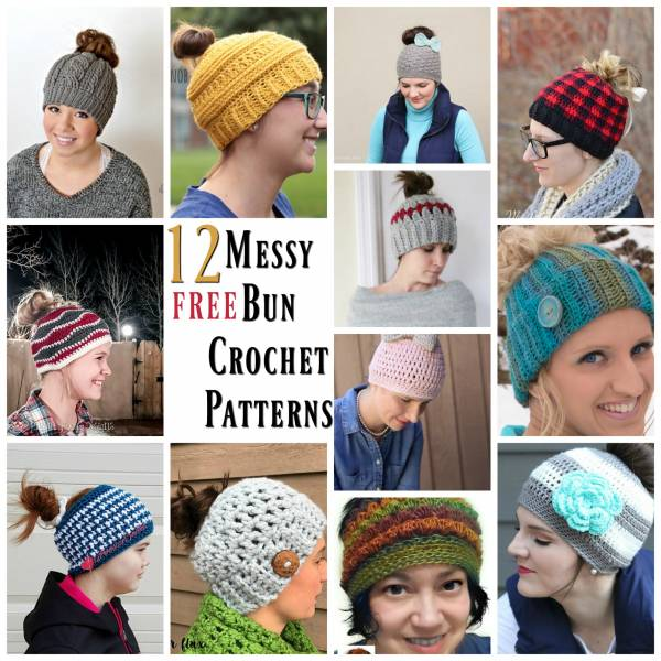 12 Free Messy Bun Crochet Patterns