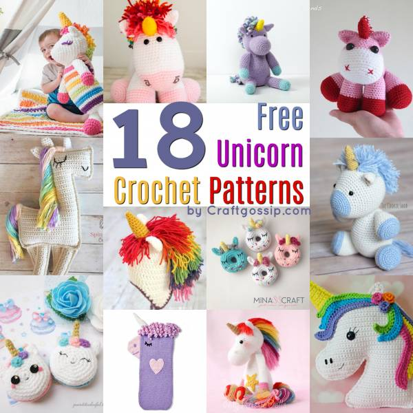 60 Free Unicorn Crochet Patterns Crochet Best Unicorn Crochet Pattern