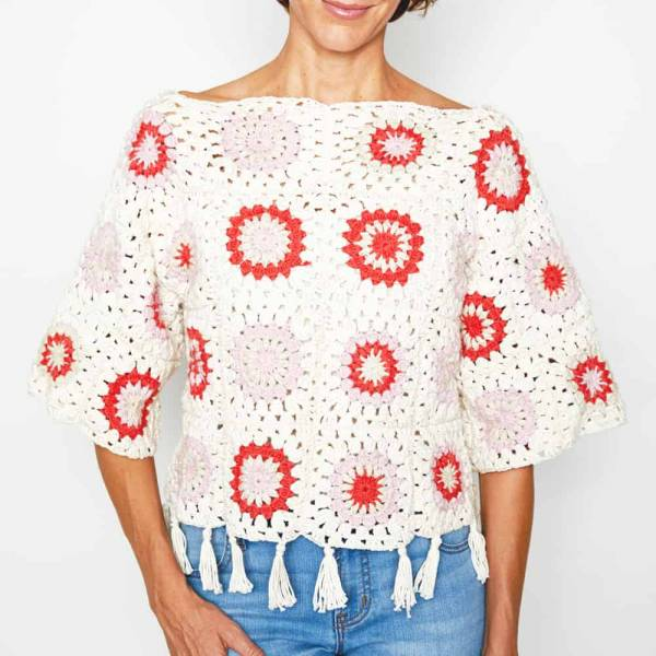 Granny Square Sweater Crochet Pattern Crochet
