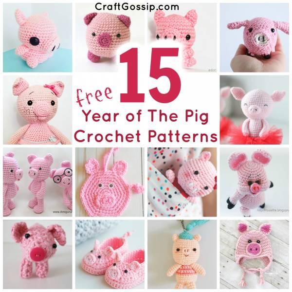 Amigurumi Mini Pig Crochet Pattern | 600x600