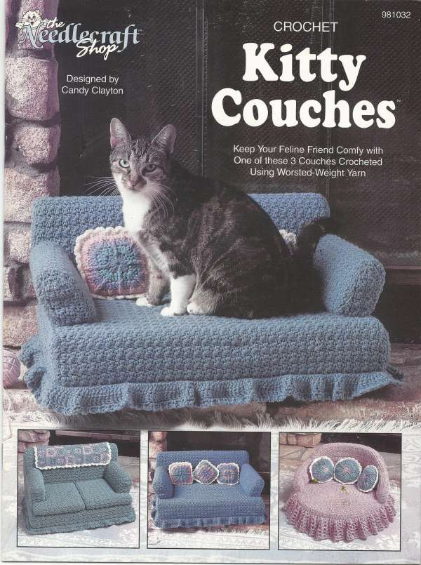 Crocheted Cat Bed - Dabbles & Babbles | 805x600