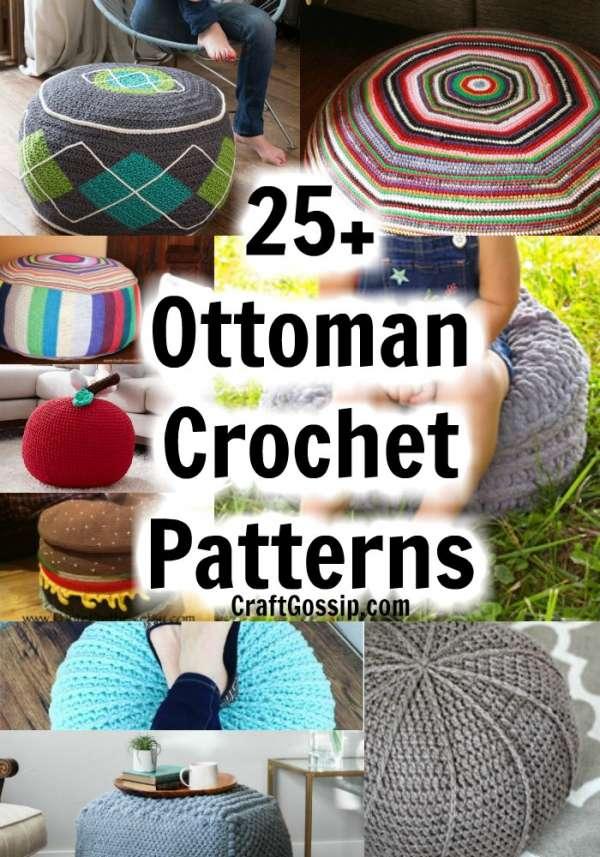 ottoman Drawstring Floor Pouf