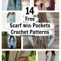 14 Free Scarves With Pockets Crochet Patterns