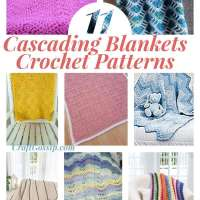 10 Cascading crochet Blanket Patterns