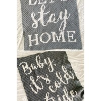 Baby It's Cold Outside & Let's Stay Home Graphghan Crochet Pattern