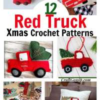 12 Christmas Holiday Red Truck Crochet Patterns