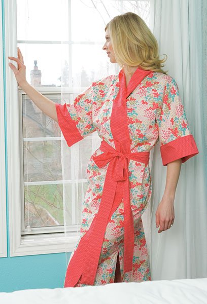 Kimono Robe Sewing Pattern Free : kimono, sewing, pattern, Women's, Kimono, Robe-, Sewing, Pattern, Nana's, Favorites