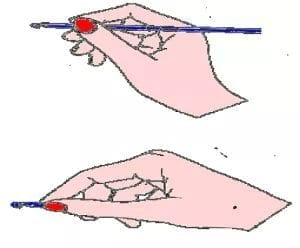 how to hold the crochet hook for beginner crochet hook