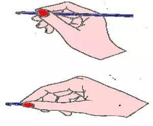 how to hold the crochet hook for beginner crochet hook