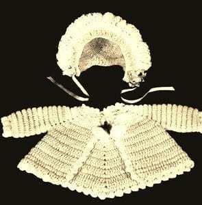 vintage baby jacket cluster stitch