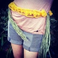 crochet hairpin belt