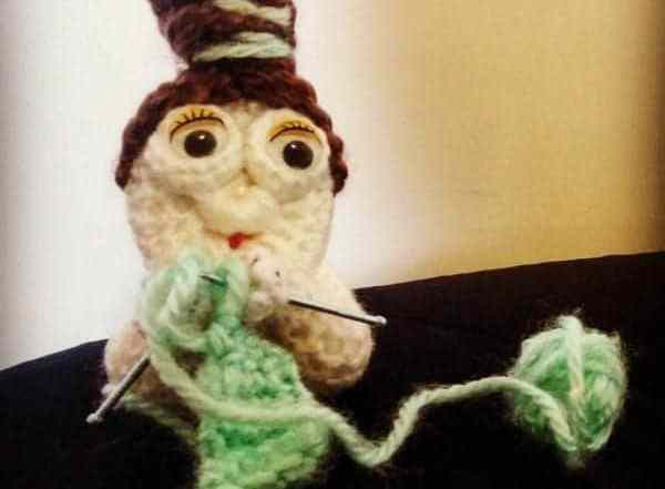 knitting lady free crochet pattern