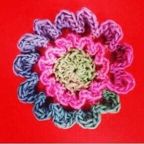 crochet flower 3D free crochet flower pattern