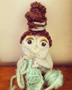 Crochet Amigurumi Old Knitting Lady Pattern.