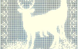reindeer filet crochet pattern