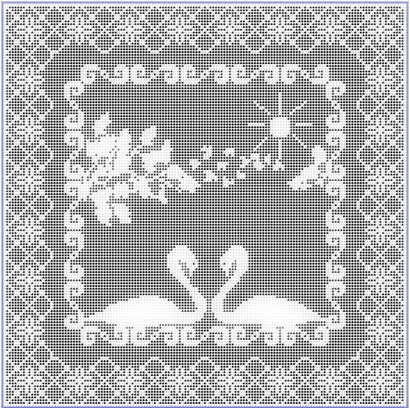 crochet swan filet pattern swan filet crochet pattern