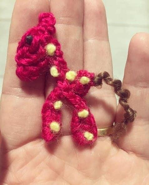 Crochet miniature giraffe