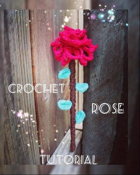 Crochet Rose Broomstick Pattern