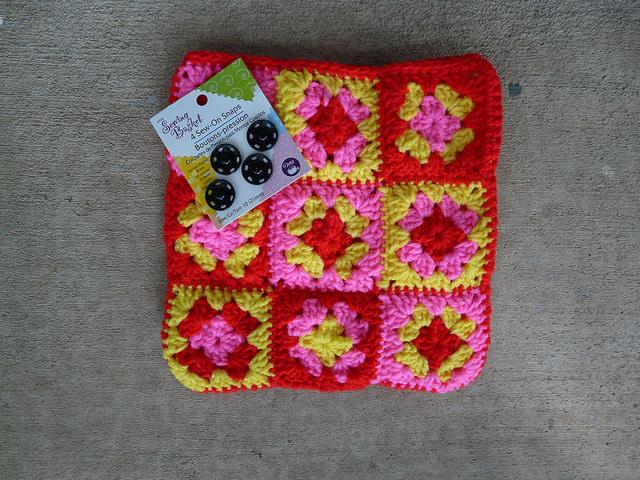 nine patch crochet purse