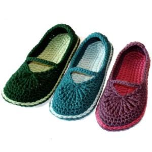 mary jane crochet shoes