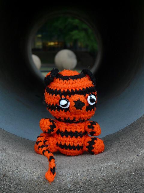 crochetbug, crochet tiger, amigurumi tiger, crochet toy, diy toy, washington dc, fourth of july