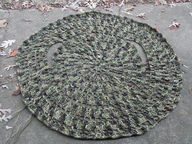 camouflage crochet circle jacket