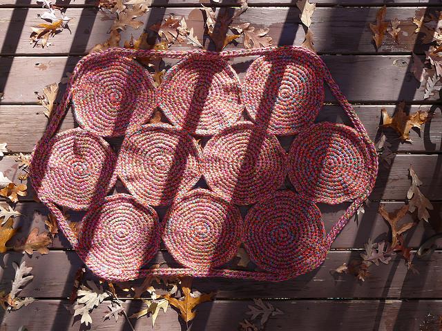 Day 3: Blocking the belated birthday crochet rug