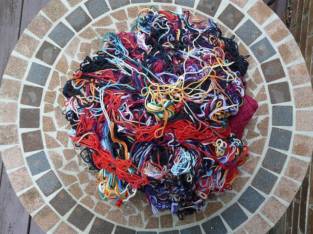 crochetbug, yarn scraps, mill ends, worsted weight yarn, yarn scraps